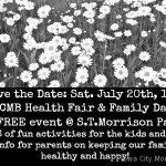 More Details:  Health Fair & Family Day!