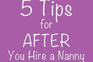 Brook 5 tips for nanny