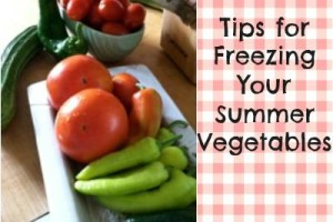 Megan tips for freezing vegetables