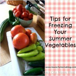 Megan tips for freezing vegetables
