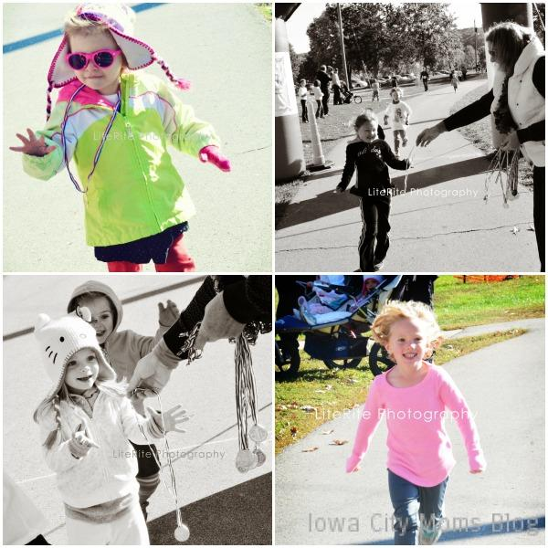 kids race collage