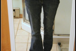 Half done jeans