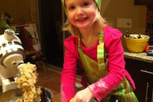 Aissa chef hat with cookies