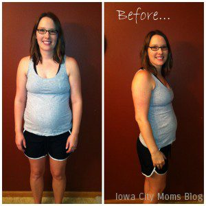 Kaitlyn - baby weight challenge before