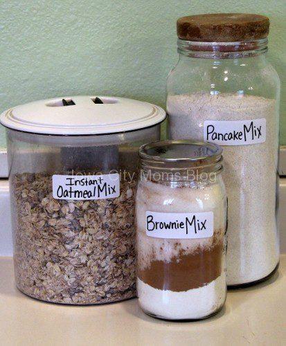Make Ahead Recipe Jars - Finished