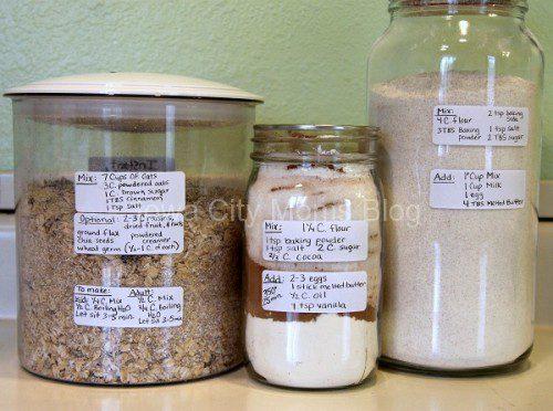 Make Ahead Recips Jars - Labels