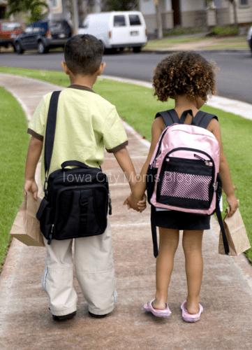 Back to school jitters - walking to school