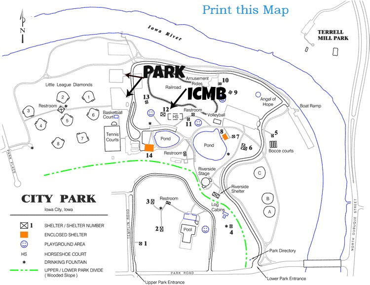 Blogger Dash - Iowa city map