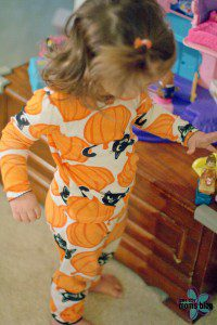 These Halloween pajamas definitely won't fit again this year!