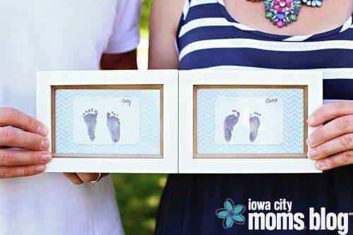 Cora and Carly footprints