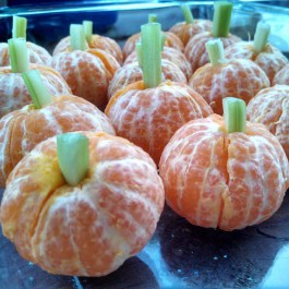 halloween treats tangerine clementine pumpkins