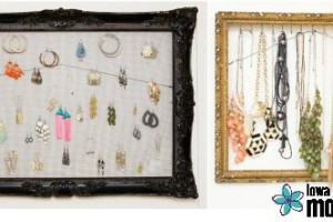 DIY jewelry organization using a picture frame 4