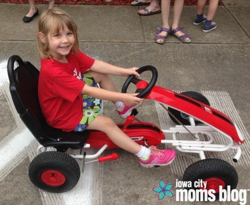 My daughter learned the rules of the road by driving one of these pedal cars in a kid sized city at Safety Village. If you have a 5-7 year old, don't miss this program! It's amazing!