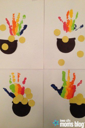 st patrick's day handprint craft
