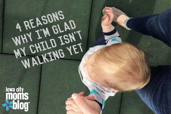 One-year-old isn't walking yet, child isn't walking yet