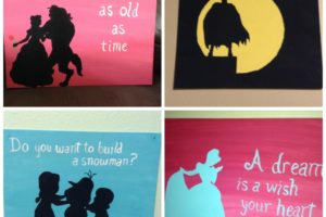 DIY Silhouette Paintings