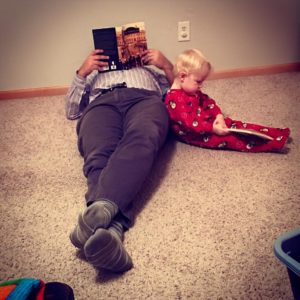 This is our version of reading with Griffin.