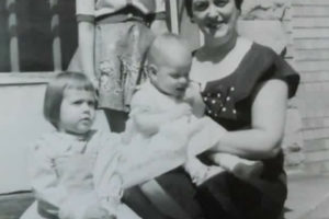 My grandmother with my mother and her cousins.