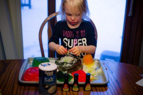 indoor snow sensory activity