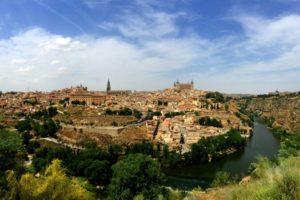 An overlook in Toledo, Spain.
