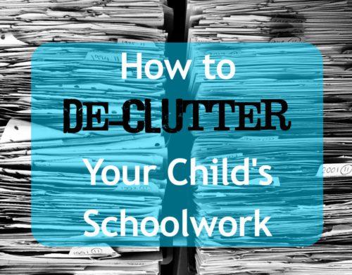 schoolwork declutter