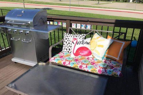 DIY no sew patio cushions
