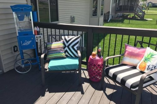 DIY No Sew Patio Cushions