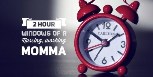 2-hour windows of a nursing working mama mom day