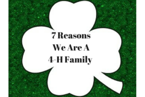 7 Reasons We Are A 4-H Family
