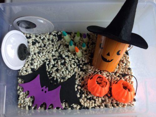 sensory box play halloween