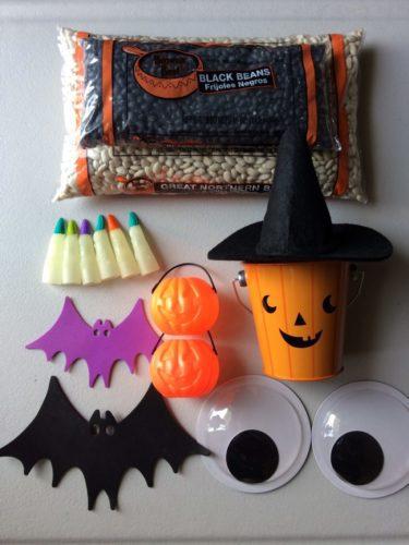 halloween sensory box play
