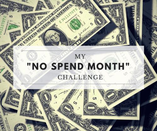 no-spend month challenge