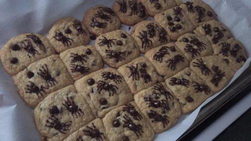 halloween treats spider cookies