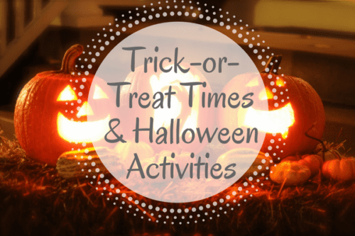 trick or treat times halloween activities iowa city
