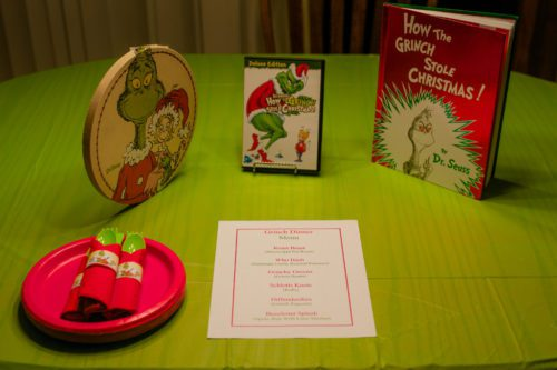 grinch family theme night dinner