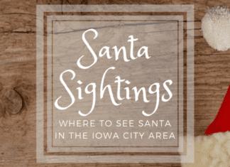 where to see santa near iowa city christmas photos