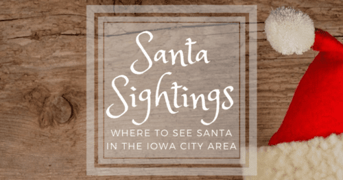 where to see santa near iowa city christmas photos