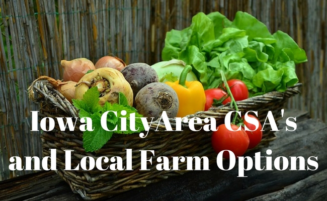 CSAs: Farms and CSA's in the Iowa City area
