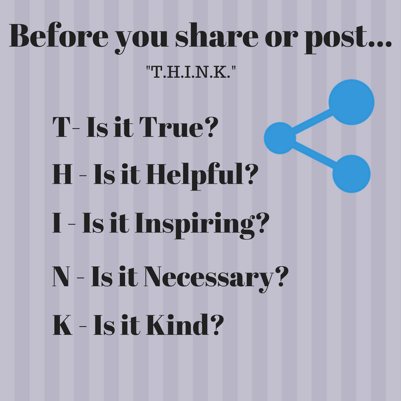 T.H.I.N.K. Before You Share: Responsible Sharing on Social Media