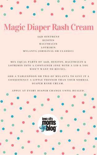 Magic diaper rash cream recipe