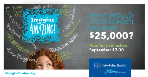 Imagine the Amazing with UnityPoint Health: $25,000 Contest for Schools!