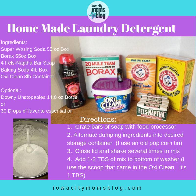 Homemade Laundry Detergent: An Easy