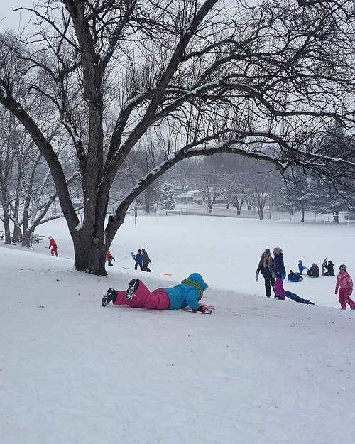 best sledding hills in iowa city