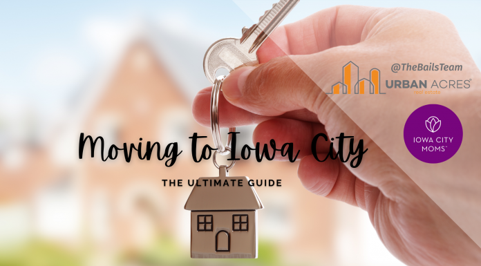 graphic: moving to Iowa City the Ultimate Guide