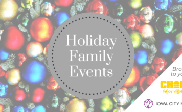 November and December family events in the Iowa City area