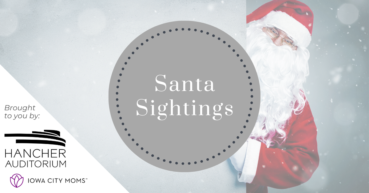 Santa Sightings: Where to see Santa in Iowa City