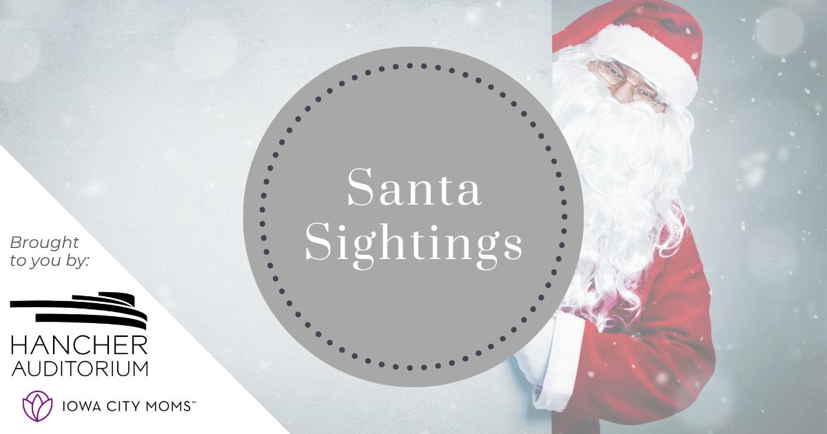 Santa Sightings: Where to see Santa in Iowa City