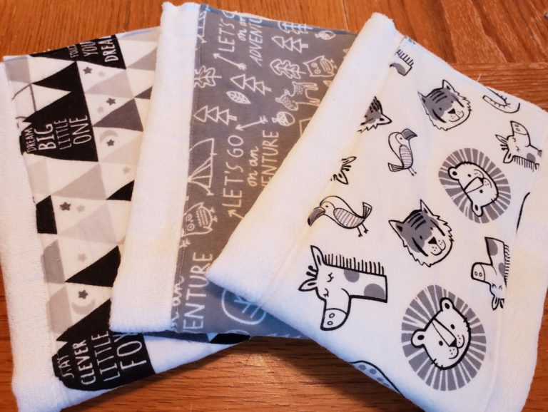 How to Make Cute and Easy Burp Cloths in an Afternoon