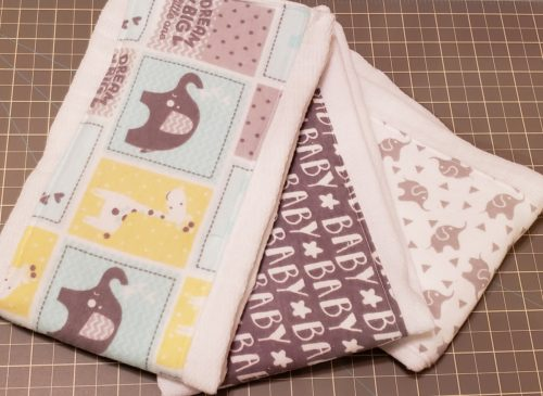 Cute Easy burp cloth tutorial