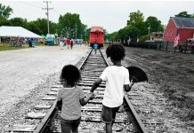 An image of the author's two children as she reflects on Black History Month.